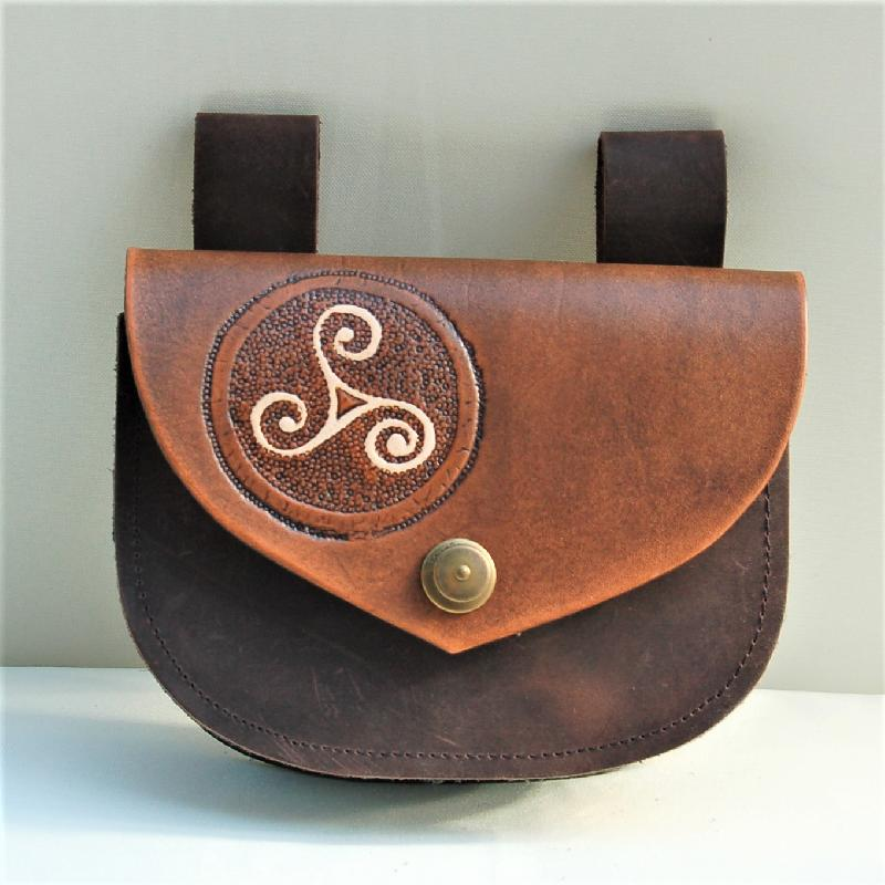 Celtic Leather Craft Belt Bag Belt Bag