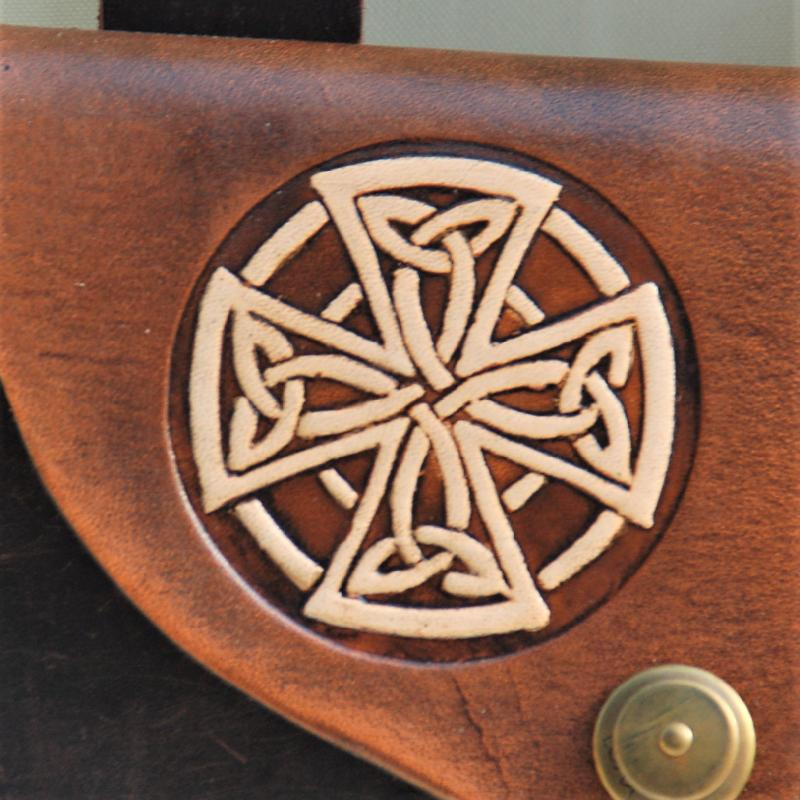 Celtic Leather Craft Belt Bag Celtic Cross Belt Bag