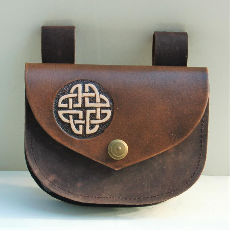 Celtic Leather Craft Belt Bag Celtic Knot Belt Bag