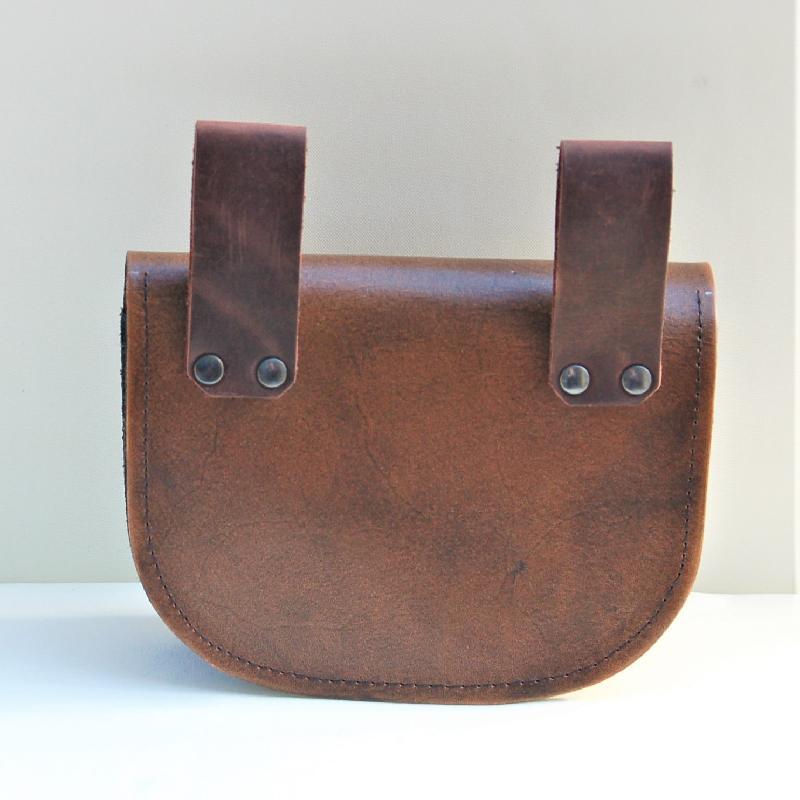 Celtic Leather Craft Belt Bag Open Triad Belt Bag