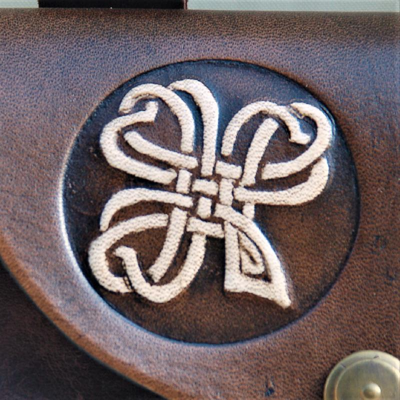 Celtic Leather Craft Belt Bag Shamrock No.2 Belt Bag
