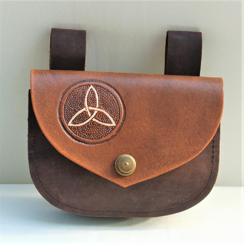 Celtic Leather Craft Belt Bag Triquetra Belt Bag