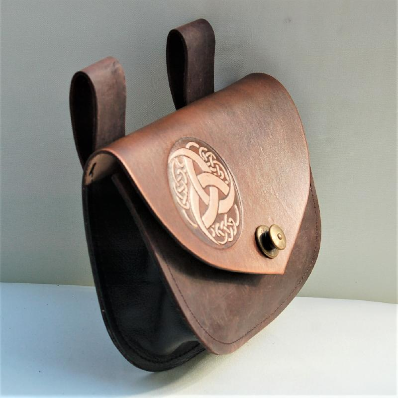 Celtic Leather Craft Belt Bag Triquetra Tribal Belt Bag