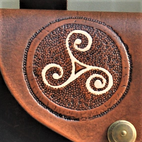 Celtic Leather Craft Belt Bag Triskele Belt Bag