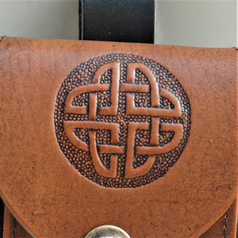 Celtic Leather Craft Belt Pouch Celtic Knot Belt Pouch