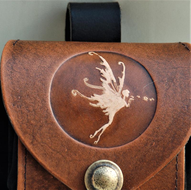Celtic Leather Craft Belt Pouch Fairy Belt Pouch