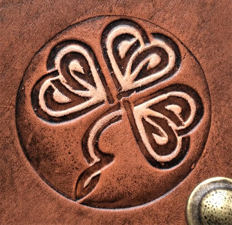 Celtic Leather Craft Belt Pouch Shamrock No.1 Belt Pouch