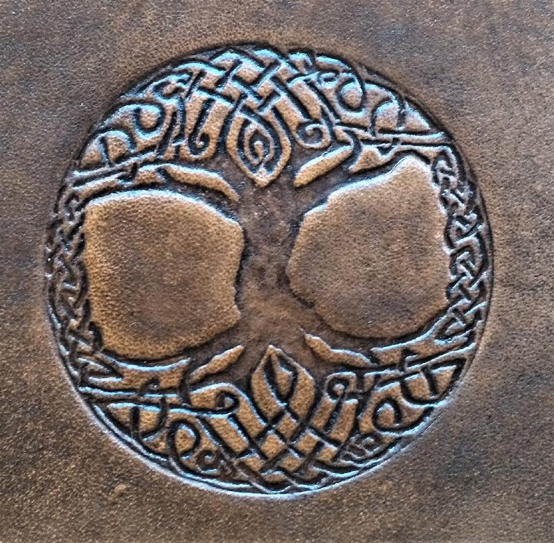 Celtic Leather Craft Belt Pouch Tree Of Life Belt Pouch