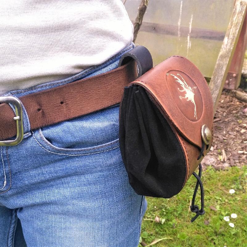 Celtic Leather Craft Belt Pouch Triskele Belt Pouch