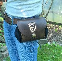 Belt Pouch - wide Belt Pouch - wide - Celtic Harp