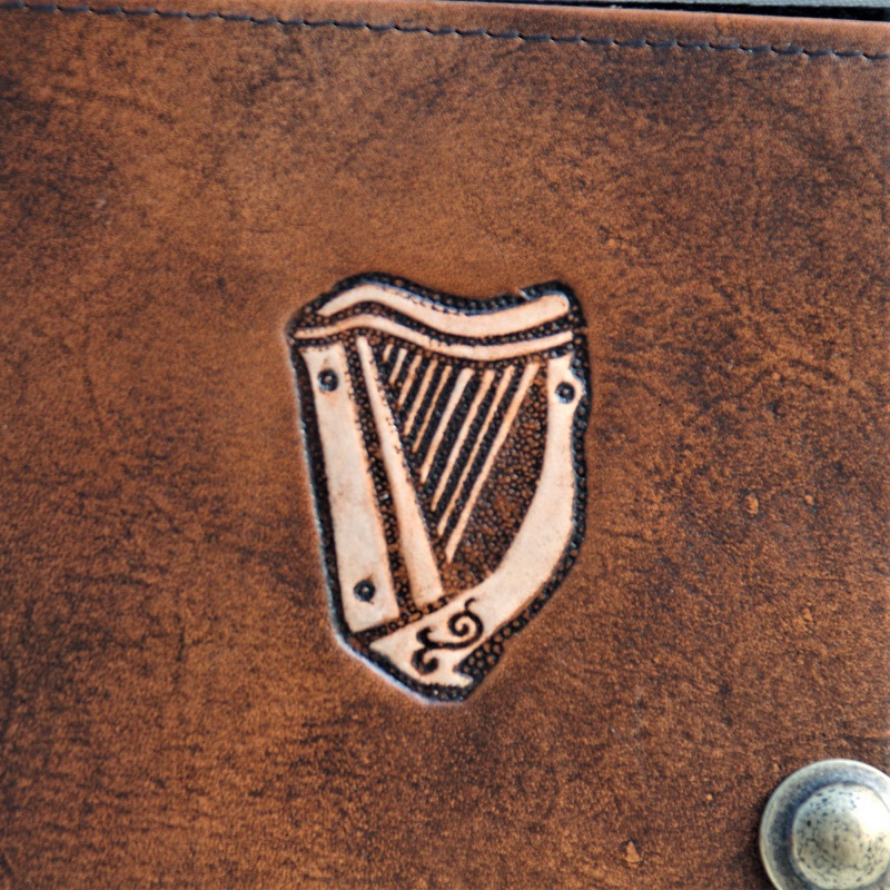 Celtic Leather Craft Boock Cover A5 Celtic Harp Book Cover