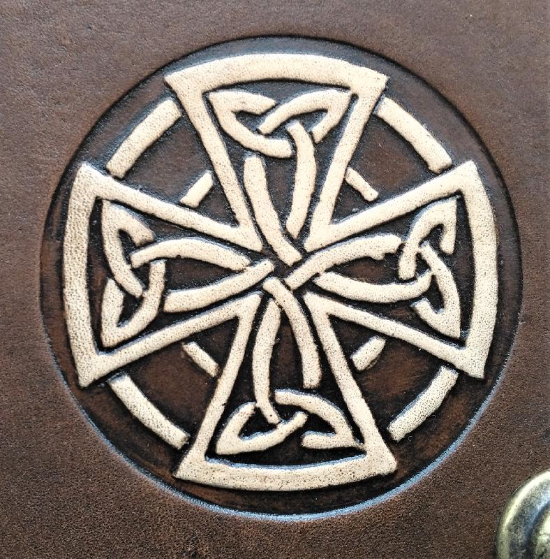 Celtic Leather Craft Book Cover A5 Celtic Cross Book Cover