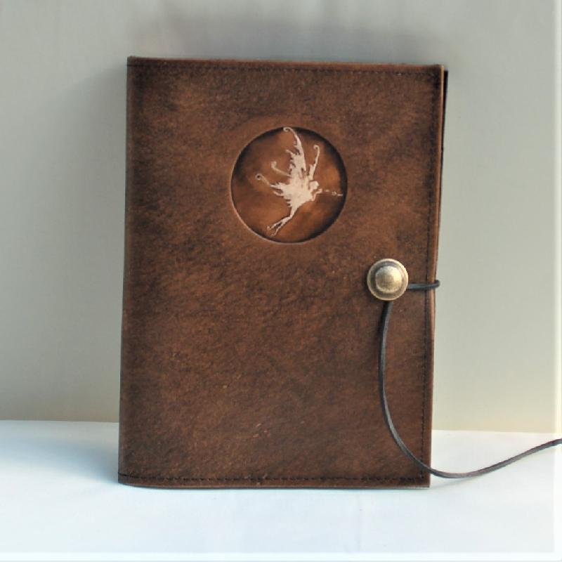 Celtic Leather Craft Book Cover A5 Fairy Book Cover