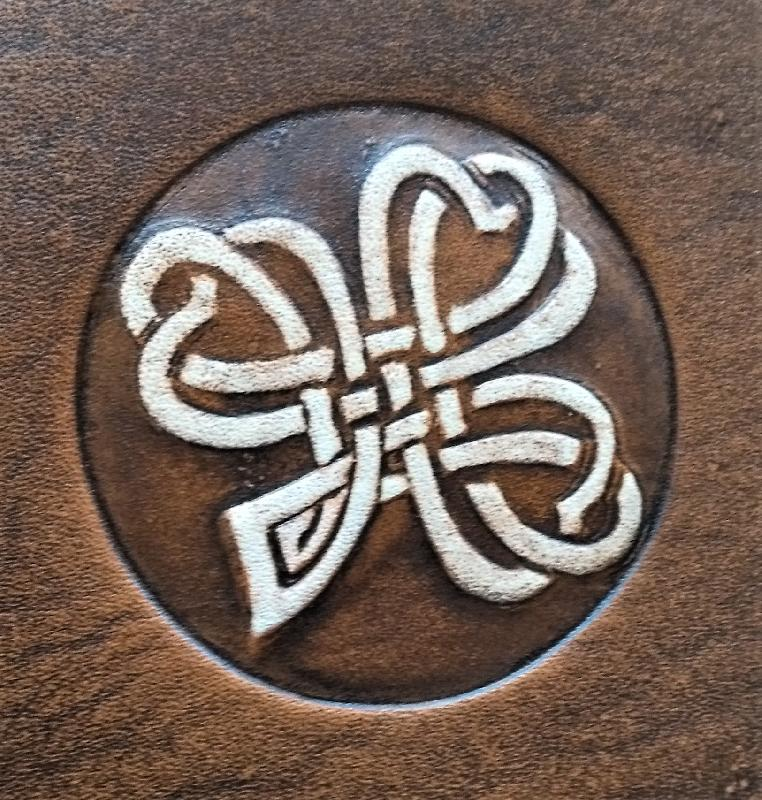 Celtic Leather Craft Book Cover A5 Shamrock No.2 Book Cover