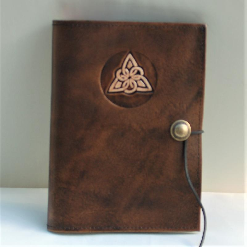 Celtic Leather Craft Book Cover A5 Triangle Knot Book Cover