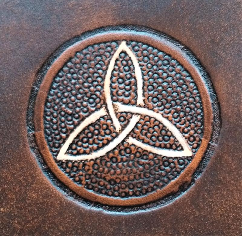 Celtic Leather Craft Book Cover A5 Triquetra Book Cover