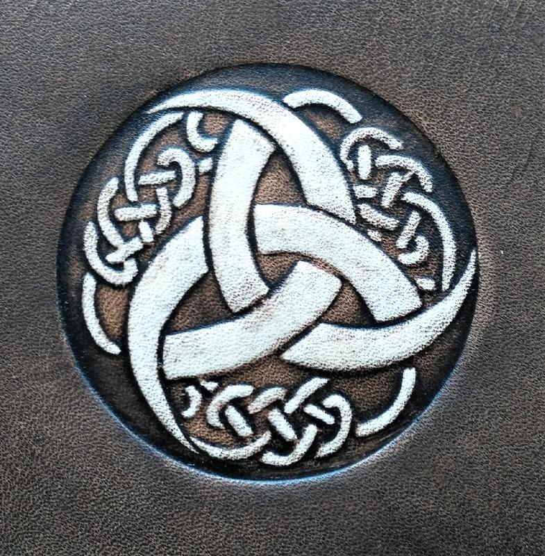 Celtic Leather Craft Book Cover A5 Triquetra Tribal Book Cover