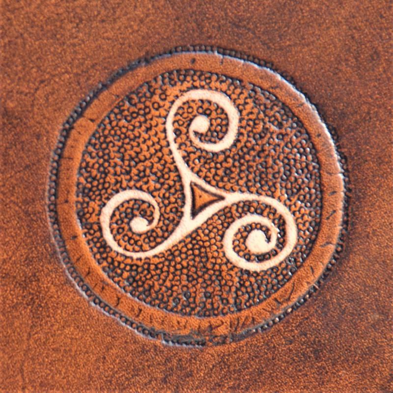 Celtic Leather Craft Book Cover A5 Triskele Book Cover