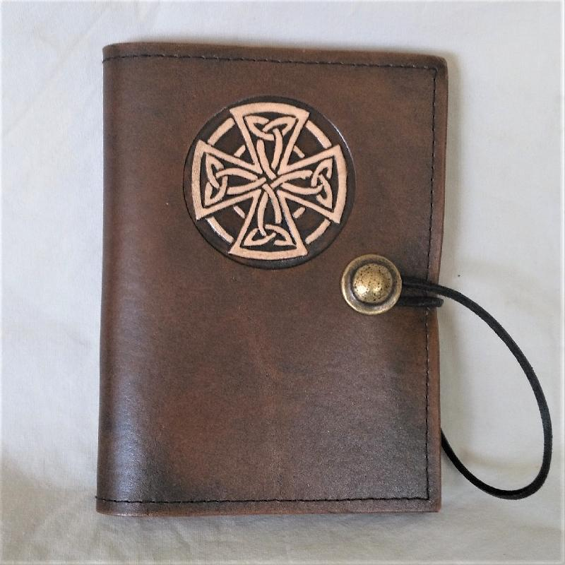 Celtic Leather Craft Book Cover A6 Celtic Cross Book Cover