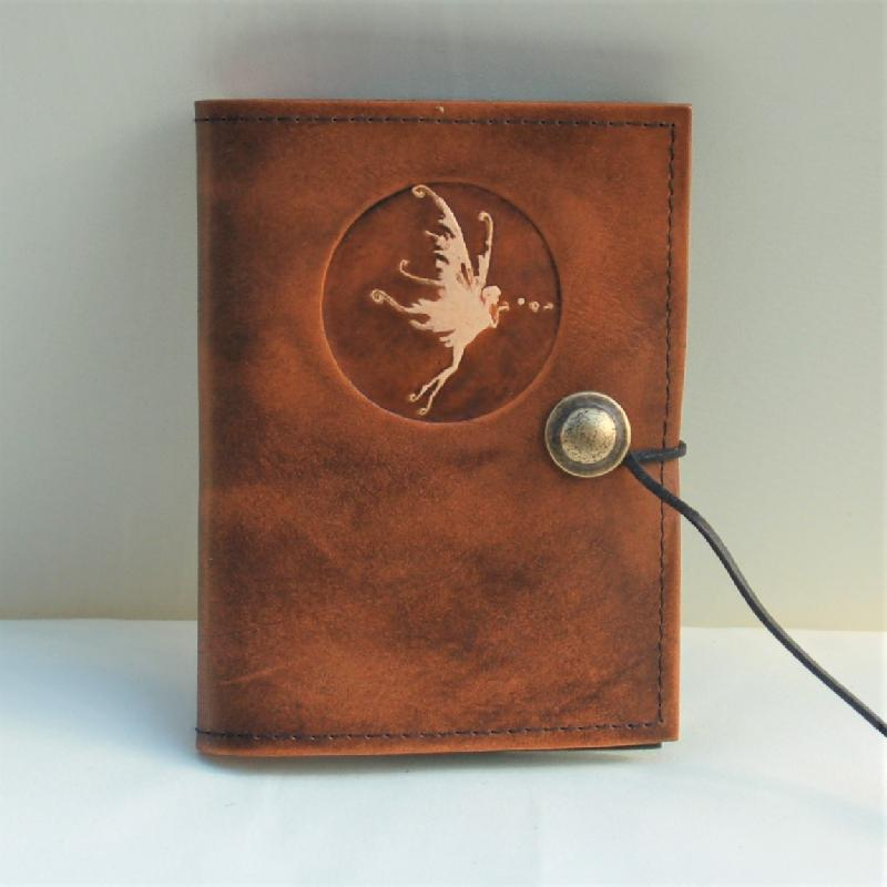 Celtic Leather Craft Book Cover A6 Fairy Book Cover