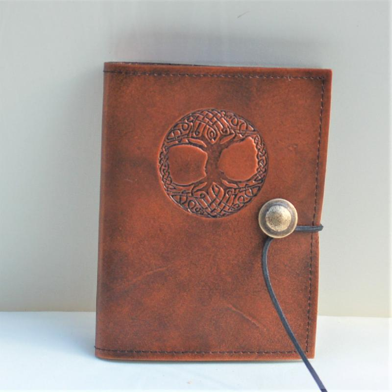 Celtic Leather Craft Book Cover A6 Tree Of Life Book Cover