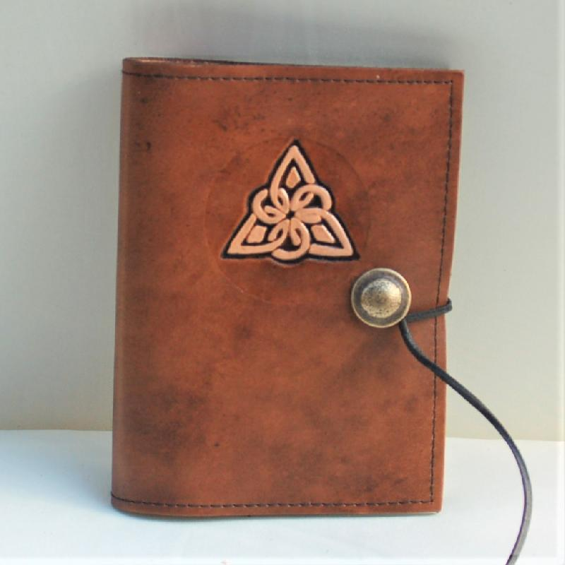 Celtic Leather Craft Book Cover A6 Triangle Knot Book Cover