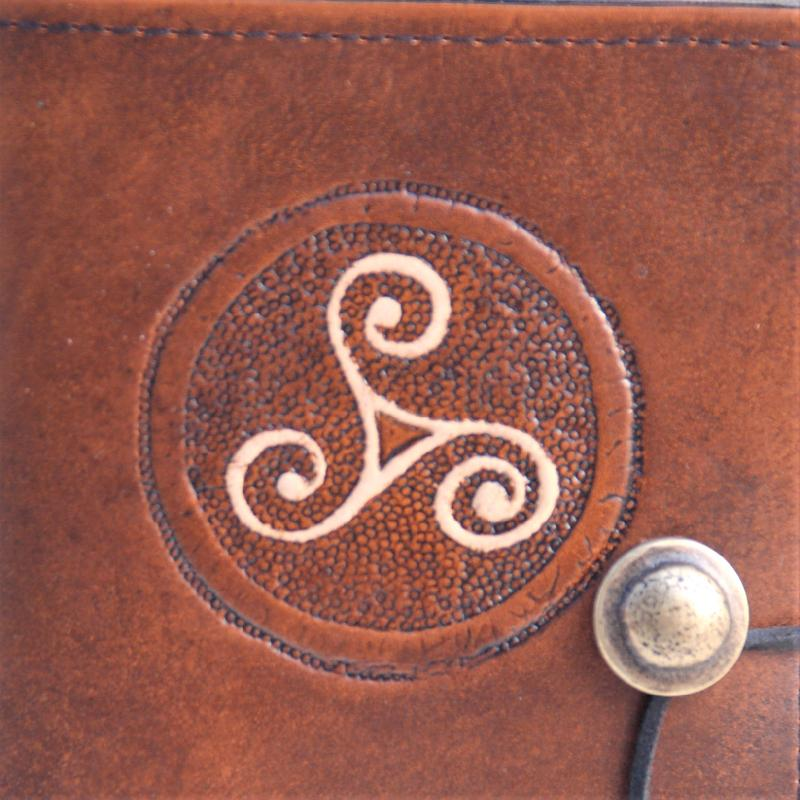 Celtic Leather Craft Book Cover A6 Triskele Book Cover