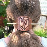 Hairslides Hair Slide Celtic Harp