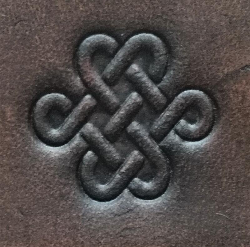 Celtic Leather Craft Hair Slide - small Celtic Knot Hair Slide - small