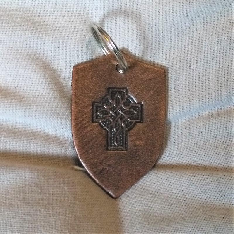 Celtic Leather Craft Key Chain Celtic Cross II Key Chain
