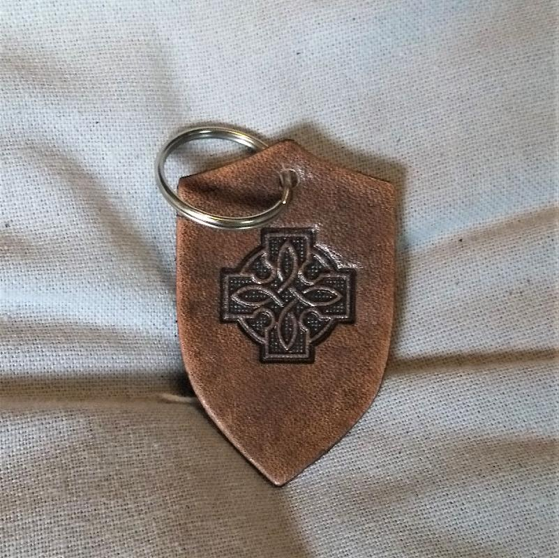 Celtic Leather Craft Key Chain Celtic Cross Key Chain