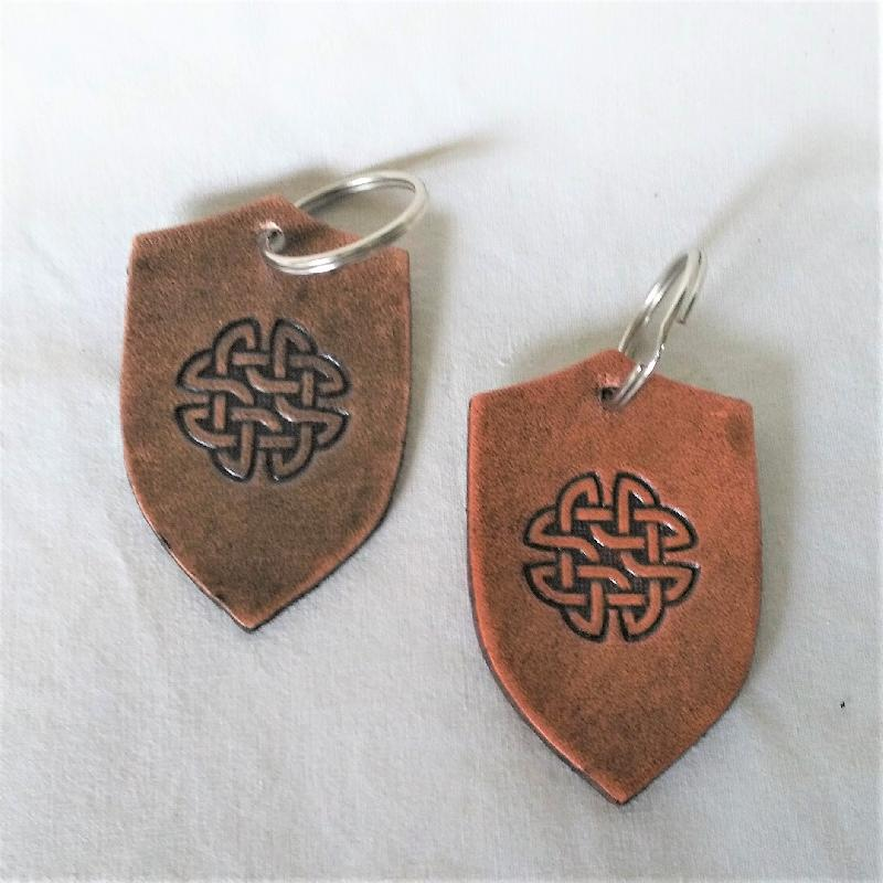 Celtic Leather Craft Key Chain Shamrock Key Chain