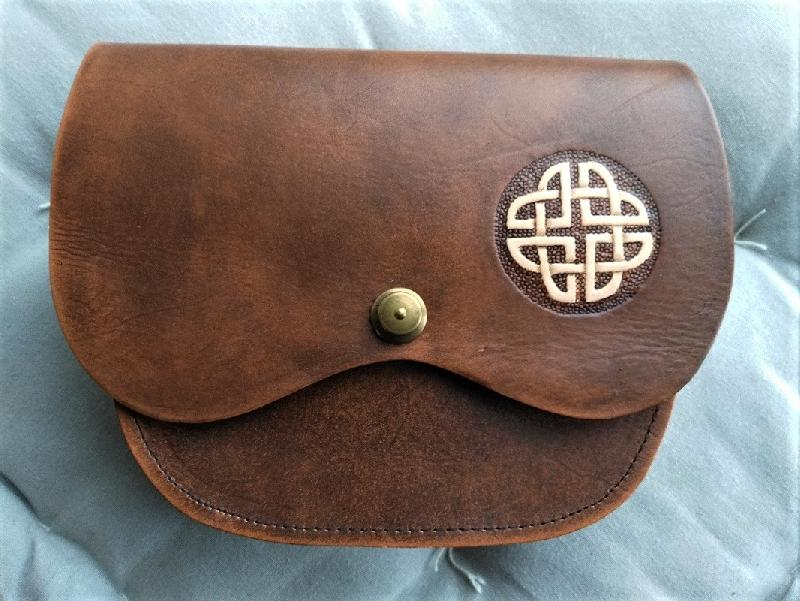 Celtic Leather Craft Shoulder Bag Celtic Knot Shoulder Bag