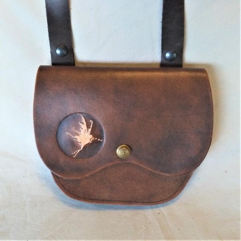 Celtic Leather Craft Shoulder Bag Fairy Shoulder Bag