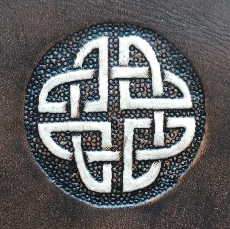 Celtic Leather Craft Shoulder Bag - small Celtic Knot Shoulder Bag - small