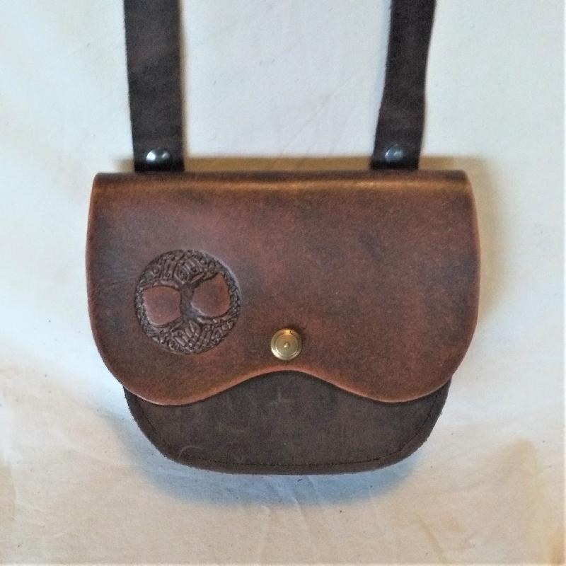 Celtic Leather Craft Shoulder Bag Tree Of Life Shoulder Bag