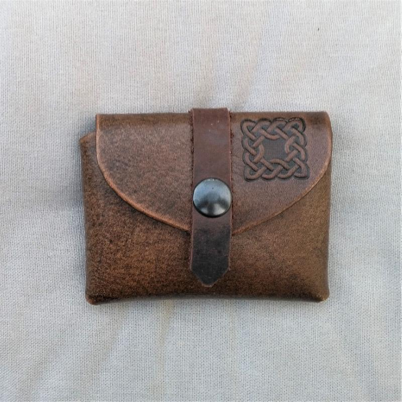 Celtic Leather Craft Small Belt Bag Celtic Knot Small Belt Bag