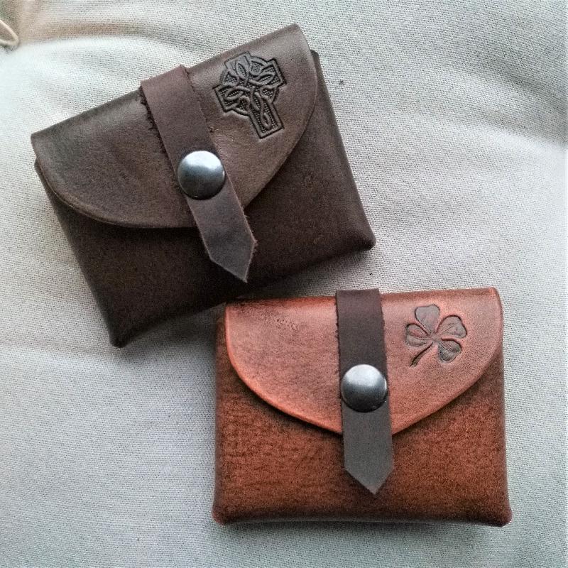 Celtic Leather Craft Small Belt Bag Shamrock Small Belt Bag