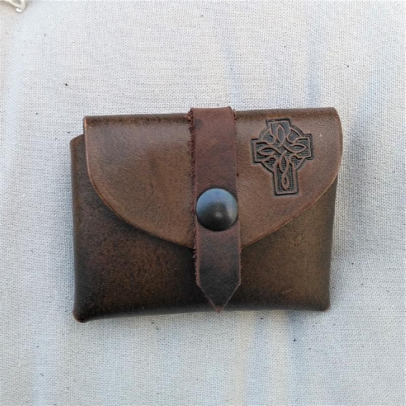 Celtic Leather Craft Small Belt Bag Celtic Cross Small Belt Bag