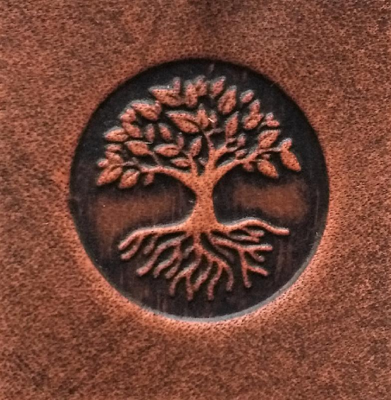 Celtic Leather Craft small Belt Bag Tree Of Life Small Belt Bag