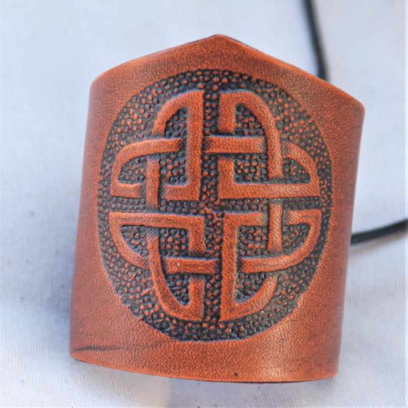 Celtic Leather Craft Wristband Celtic Knot Wristband