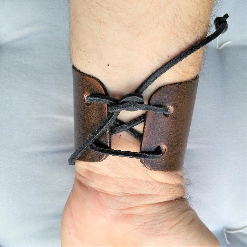 Celtic Leather Craft Wristband Fairy Wristband