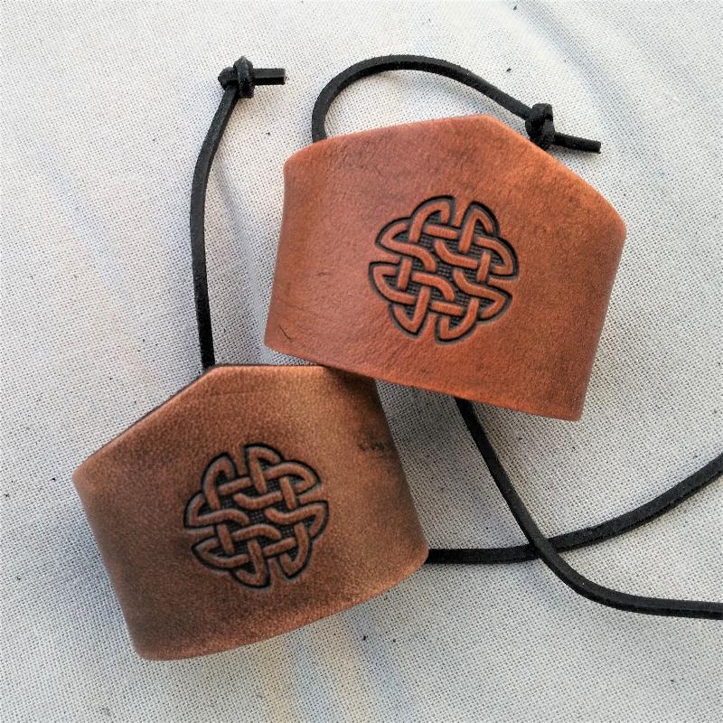 Celtic Leather Craft Wristband - narrow Celtic Knot Wristband - narrow