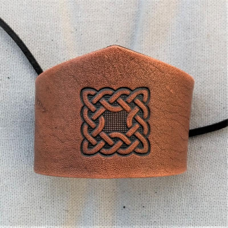 Celtic Leather Craft Wristband - narrow Celtic Knot Wristband - narrow