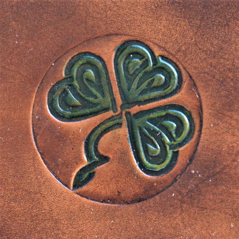 Celtic Leather Craft Wristband Shamrock No.1 Wristband