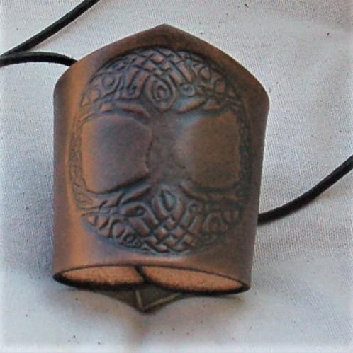Celtic Leather Craft Wristband Tree Of Life Wristband