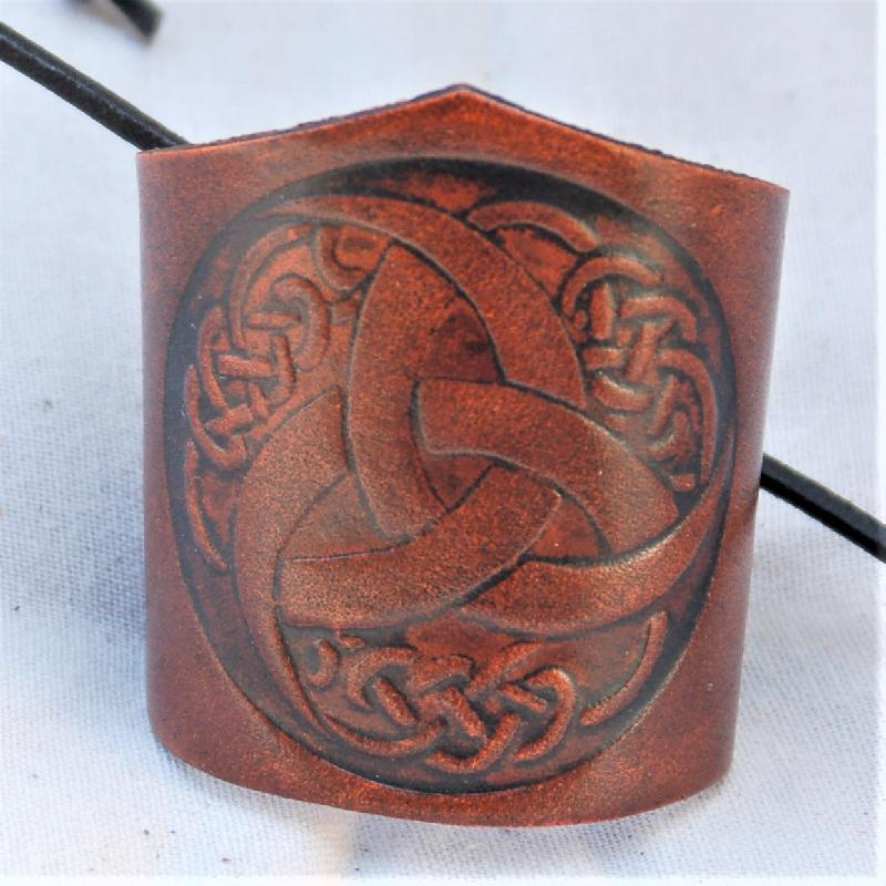 Celtic Leather Craft Wristband Triquetra Tribal Wristband