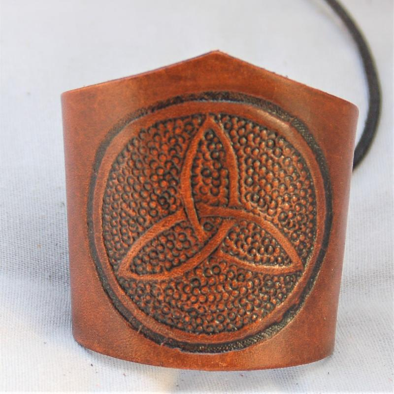 Celtic Leather Craft Wristband Triquetra Wristband