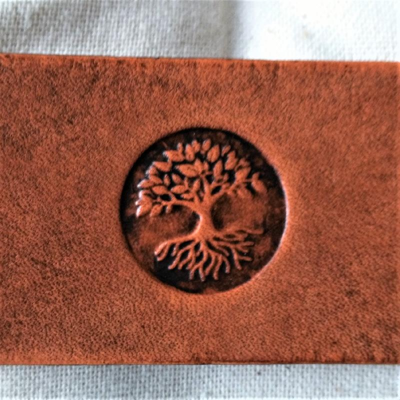 Celtic Leather Craft Wristband with buckle Tree Of Life Wristband with buckle