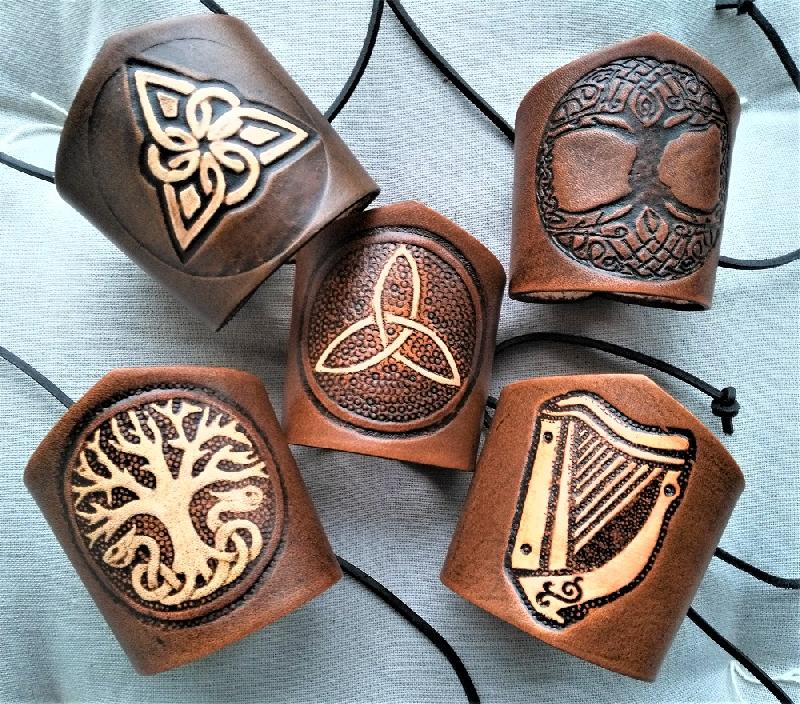 Celtic Leather Craft Wristband Wristband